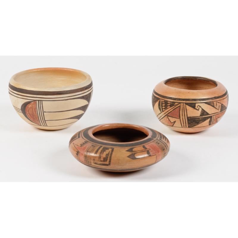 Three Hopi Bowls